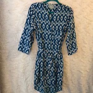 Anthropologie MAEVE Highlow halfsleeve dress small